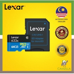 Lexar High-Performance microSDXC 633x 64GB Micro Sd
